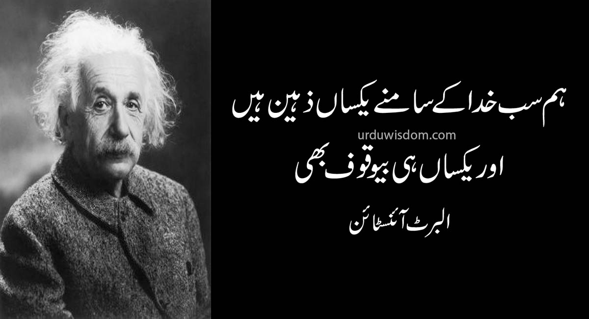 Top 20 Albert Einstein Quotes In Urdu 10