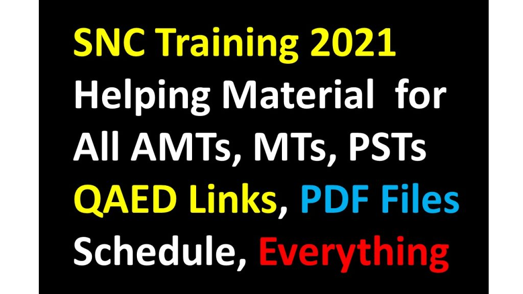 SNC ( Single National Curriculum ) Training 2021
